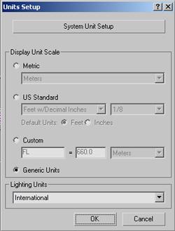units setup image