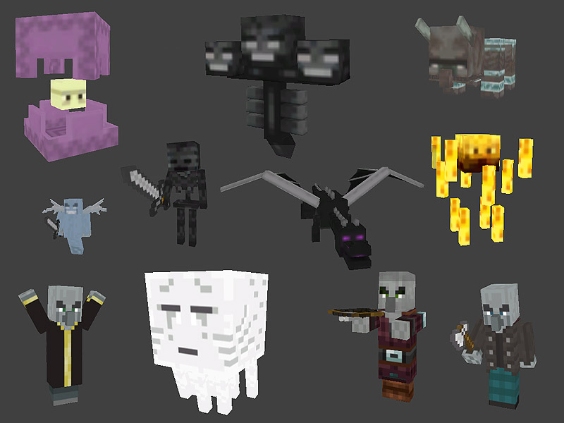 Minecraft Monster Pack 2 Preview